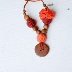 Flower Mama Nursing Necklace / Teething Jewelry  by KangarooCare, $21.00