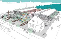Copenhagen's new food market. _ Universal Design Studio
