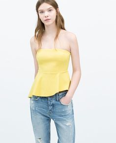Image 2 of SEAMED TOP from Zara