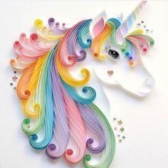 "96 Likes, 4 Comments - Unicorn Things! (@_unicorn_things_) on Instagram: ""Beautiful paper art unicorn posted by @laffing_lotus #unicorn #rainbow #cute #iphone #kawaii…"""