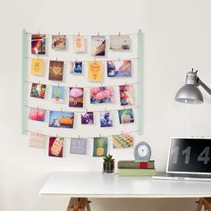 Umbra Hangit Photo Display - Mint - clothesline wall display