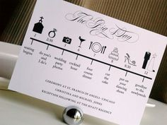 Cute idea, but I don't know why the ceremony only lasts 30 minutes while the wedding photos are allotted 3 hours. But that's just me.