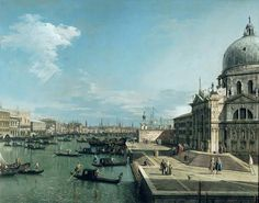 Canaletto - The Entrance To The Grand Canal And The Church of Santa Maria Della Salute