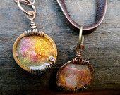 Faux Roman Glass Pendant