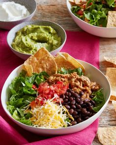 Grab a bowl and put layer after layer of your favorite topping until you've got your dream taco, but in a bowl!