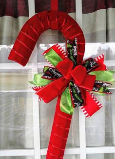Christmas Candy Cane Wreath for Front Door, Red Christmas Decor, Wreaths for Front Door, Christmas Wreaths for Front Door Christmas Wreaths For Front Door, Valentine Day Wreaths, Christmas Mantels, Christmas Ribbon, Christmas Items, Christmas Candy, Holiday Wreaths, Christmas Crafts, Christmas Decorations