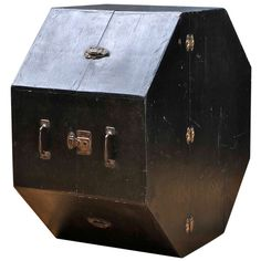 A Vintage and Odd Octagonal Symphony Drum Case Box | From a unique collection of antique and modern boxes at http://www.1stdibs.com/furniture/more-furniture-collectibles/boxes/