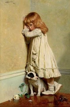 Charles Burton Barber - In Disgrace. If anyone ever finds this painting ill pay whatever you want for it. It reminds me of my mother she had it when I was young