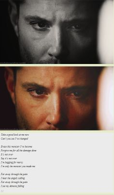 [GIFSET] Take a good look at me now. >> I just want to give Dean a hug and tell him it will all turn out okay, that he is loved, and that he matters.