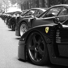 Ferrari F40's as far as the eye can see