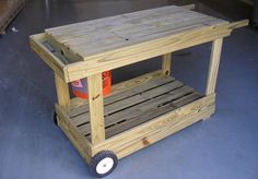 How to Build a Portable Potting Bench / Garden Cart class=