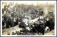 RHYL BELGIAN REFUGEES ARRIVING OCT 6TH 1914