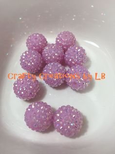 Ten(10) 20mm light pink 1 rhinestone bubblegum/chunky beads by CraftyCreationsByLB on Etsy