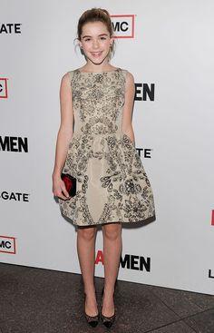 "Kiernan Shipka in RED Valentino (2013 L.A. premiere of ""Mad Men: Season 6"")"