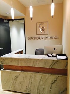 Connor and Connor Law Offices Reception Desk: