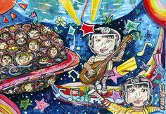 Kid Art, Art For Kids, Drawing Classes For Kids, Illustration Art, Urban, Children, Drawings, Anime, Art For Toddlers