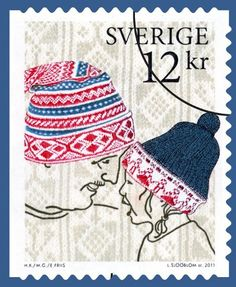 I just love Sweden. Going Postal, World Crafts, Love Stamps, Mail Art, Stamp Collecting, Postage Stamps, Knitting, Crochet, Creative