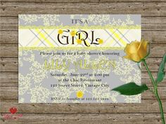 Baby Shower Cards, Baby Shower Invitations, Shower Inspiration, The Chic, Awesome, Handmade Gifts, Diy, Kid Craft Gifts, Bricolage