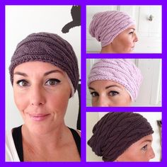 Braided baggy hat