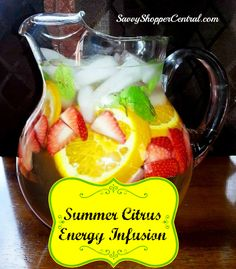 Spa Water Recipe: Summer Citrus Energy Infusion