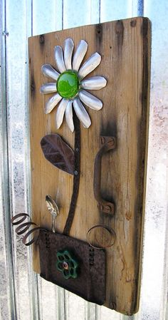 JELLO Rustic Door Floral Wall Art Home Decor by RusticSpoonful