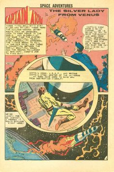 """(More Captain Atom) Space Adventures #42  Charlton Comics  """"The Silver Lady from Venus"""" Captain Atom must stop an alien from Venus from hypnotizing military men into wrecking missiles. Written by Joe Gill with art by Steve Ditko. This story reprinted in Strange Suspense Stories #77, Space Adventures #12 (1978 series) & DC' Action Heroes Archives Vol. 1. See my blog @ http://beachbumcomics.blogspot.com/"""