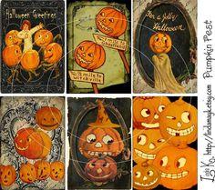 Collage SheetPumpkin Fest by lindakdesign on Etsy