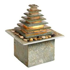 This 1 light Outdoor Fountain from the Signature collection by Dainolite will enhance your home with a perfect mix of form and function. The features include a Natural slate finish applied by experts. Indoor Wall Fountains, Indoor Fountain, Water Fountains, Tabletop Water Fountain, Bamboo Fountain, Creative Wall Decor, Waterfall Design, One Light, Koi