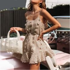 Summer Style Mini Dresses – Maizys Boutique Vestidos Sexy, Vestidos Vintage, Boho Summer Dresses, Summer Dresses For Women, Ladies Dresses, Streetwear, Spaghetti, Brown Dress, Dressy Outfits
