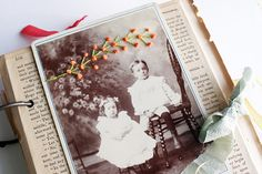 art journal, embroidered photo series (sold)
