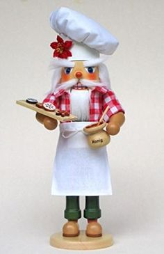 Gingerbread Baker Man German Wooden Christmas Nutcracker Decoration Made Germany * This is an Amazon Affiliate link. Check this awesome product by going to the link at the image.