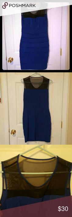 Body con dress Great clubbing outfit. Only worn once. Very flattering and comfy. No damage. Top is black mesh. Enfocus Studio  Dresses Mini