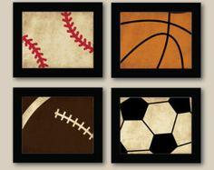 baseball and basketball bedroom - Google Search