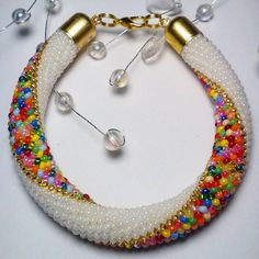 Схема жгутов -3. Crochet Beaded Necklace, Bead Crochet Rope, Seed Bead Jewelry, Beaded Jewelry, Jewelry Bracelets, Jewelry King, Handmade Accessories, Bead Weaving, Beaded Embroidery