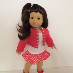 American Girl or Similar 18 Doll Cropped Jacket by AmericAnnMade, $26.00