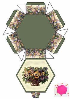 Diy And Crafts, Paper Crafts, Printable Box, Box Patterns, Hat Boxes, Craft Box, Diy Box, Miniture Things, Pattern Paper