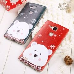 Case for Huawei Honor 5 X Winter Teddy Bear 1c02bacc0a8