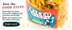 Paleo Pasta - Gluten Free Pasta! This pasta still contains quinoa and I'm not sure that it's really paleo.