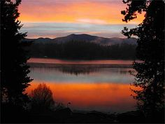 Sunrise on Hayden Lake... weird this came up! out of the millions of pins.