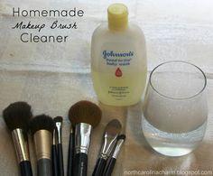 Homemade Makeup Brush Cleaner: 1 cup warm water and 1 tablespoon Baby Shampoo Eye Makeup, I Love Makeup, Beauty Makeup, Awesome Makeup, Makeup Kit, Makeup Tools, Awesome Hair, Sephora Makeup, Pretty Makeup