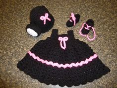 Coal Miners Daughter Hat Dress and Booties by DonnasCrochetCabin,