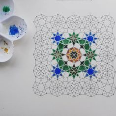 154 Likes, 16 Comments - Aisha Islamic Art Pattern, Arabic Pattern, Geometric Designs, Geometric Art, Islamic Designs, Tile Patterns, Pattern Art, Motifs Islamiques, Arabesque Pattern