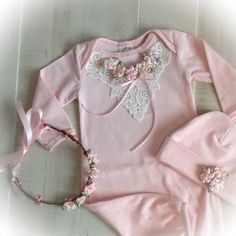 Newborn Girl Layette Baby Girl Coming Home Outfit Newborn