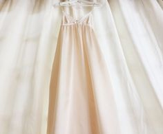 Vintage Christian Dior long lace light  pink by VintageKiwii, $65.00