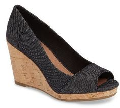 Super cute! Dress up or down. Women's Toms Stella Wedge Pump