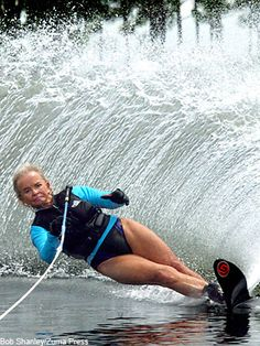 """Frances Woofenden calls herself """"an 84-year-old grandmother who just loves life"""" on her Web site — but acknowledges that she's not """"your typical Granny."""" Why? Woofenden is a competitive water-skier who has more than 100 medals to her name. Even more impressive, Woofenden didn't start waterskiing until she moved to Florida at age 50. Decked out in pink lipstick, gold hoop earrings, and a backless bathing suit, she's as stylish as she is skilled."""