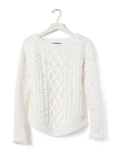 Chunky Cable-Knit Sweater Pullover | Banana Republic