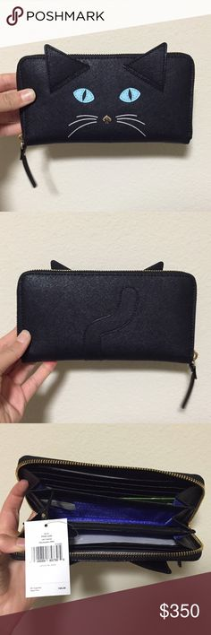 NWT Kate Spade Cat's Meow Lacey Cat Wallet - RARE Brand new Kate Spade Cat's Meow Lacey. Adorable cat wallet. Very rare. Sold out everywhere. Price firm. No trades. kate spade Bags Wallets