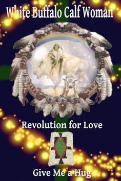 White Buffalo Calf Woman Revolution for Love Give Me a Hug ALightFromWithin. Woman Singing, Hug, Buffalo, Revolution, Calves, Give It To Me, Christmas Ornaments, Holiday Decor, Women