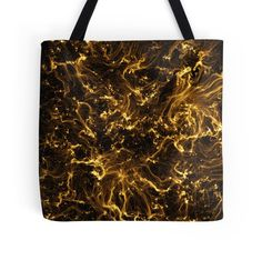 Neon Flame Gold Tote Bag - Available Here: http://www.redbubble.com/people/rapplatt/works/9492286-neon-flame-gold?p=tote-bag&ref=artist_shop_grid